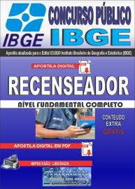 Apostila Digital Concurso Público Instituto Brasileiro de Geografia e Estatística (IBGE) 2020 Recenseador