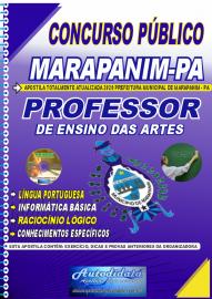 Apostila Impressa Concurso Público Prefeitura de Marapanim - PA 2020 Professor de Ensino das Artes