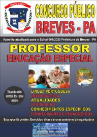Apostila Impressa Concurso Público Prefeitura de Breves - PA 2020 Professor de Educação Especial