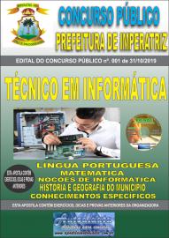 Apostila Impressa Concurso - Prefeitura Municipal de Imperatriz - MA 2019 - Técnico em Informática