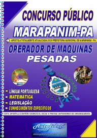 Apostila Impressa Concurso Público Prefeitura de Marapanim - PA 2020 Operador de Máquinas Pesadas