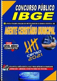 Apostila digital concurso do IBGE em PDF 2021 - AGENTE CENSITÁRIO MUNICIPAL (ACM)