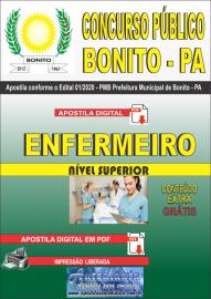 Apostila Digital Concurso Público Prefeitura de Bonito - PA 2020 Enfermeiro