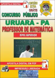 Apostila Digital Processo Seletivo de URUARÁ/PA 2019 – Professor de Matemática