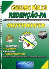 Apostila Impressa Concurso Público Prefeitura de Redenção - PA 2020 Motorista