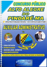 Apostila Impressa Concurso Público Alto Alegre do Pindaré - MA 2020 Auxiliar Administrativo
