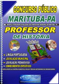 Apostila Impressa Concurso Público Prefeitura de  Marituba - PA 2020 Professor de História