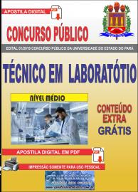 Apostila Digital Concurso Universidade do Estado do Pará - UEPA 2019 Técnico em Laboratório
