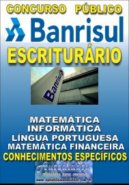 Apostila Digital Concurso BANRISUL - RS 2019 - Escriturário