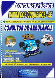 Apostila Impressa Concurso Público Prefeitura de Barra dos Coqueiros - SE 2020 Condutor de Ambulância