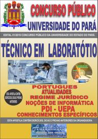 Apostila Impressa Concurso Universidade do Estado do Pará - UEPA 2019 Técnico em Laboratório