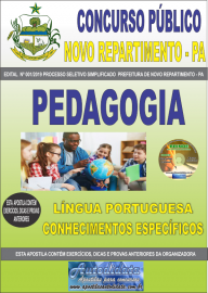 Apostila Impressa Concurso Prefeitura Municipal Novo Repartimento - PA 2019 Pedagogia