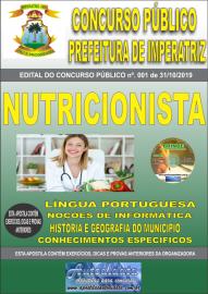 Apostila Impressa Concurso - Prefeitura Municipal de Imperatriz - MA 2019 - Nutricionista