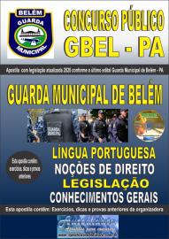 Apostila Impressa Concurso Público Guarda Municipal de Belém - PA - GMB -2020 Guarda Municipal