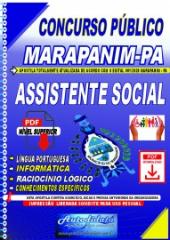 Apostila digital concurso Marapanim - PA 2020 ASSISTENTE SOCIAL