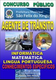Apostila Impressa concurso SÃO FÉLIX DO XINGU/PA - 2019 – Agente De Trânsito