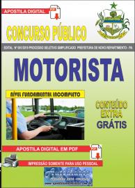 Apostila Digital Concurso Prefeitura Municipal Novo Repartimento - PA 2019 Motorista