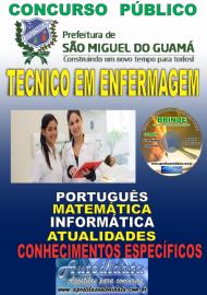 Apostila Impressa concurso SÃO MIGUEL DO GUAMÁ/PA 2019 – Técnico De Enfermagem