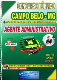 Apostila Digital Concurso Público Prefeitura de Campo Belo - MG 2020 Agente Administrativo
