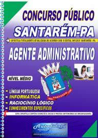 Apostila impressa concurso de SANTARÉM-PA 2021 - AGENTE ADMINISTRATIVO