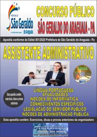 Apostila Impressa Concurso Público Prefeitura Municipal de São Geraldo do Araguaia - PA 2020 Assistente Administrativo