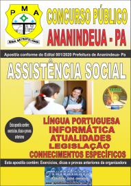 Apostila Impressa Concurso Público Prefeitura de Ananindeua - PA 2020 Área Assistência Social