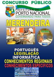 Apostila Impressa Concurso da Prefeitura de Porto Nacional - TO – 2019 - Merendeira
