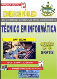 Apostila Digital Concurso Prefeitura Municipal Novo Repartimento - PA 2019 Técnico em Informática