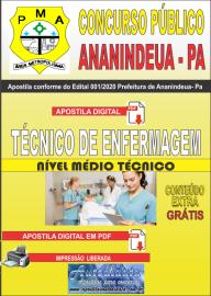 Apostila Digital Concurso Público Prefeitura de Ananindeua - PA 2020 Área Técnico de Enfermagem