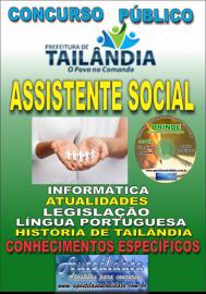 Apostila Impressa TAILÂNDIA/PA 2019 - Assistente Social