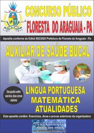 Apostila Impressa Concurso Público Prefeitura de Floresta do Araguaia - Pa 2020 Área Auxiliar de Saúde Bucal