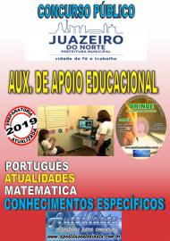 Apostila Impressa Concurso  JUAZEIRO DO NORTE - CE  - 2019 - AUxiliar de Apoio Educacional