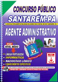 Apostila digital concurso de SANTARÉM-PA 2021 - AGENTE ADMINISTRATIVO