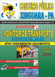 Apostila Digital Concurso Público Prefeitura de Xinguara - PA 2020 Monitor de Transporte Escolar