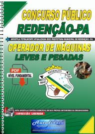 Apostila Digital Concurso Público Prefeitura de Redenção - PA 2020 Operador de Máquinas Pesadas