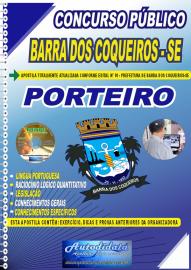 Apostila Impressa Concurso Público Prefeitura de Barra dos Coqueiros - SE 2020 Nível Fundamental Porteiro