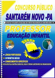 Apostila Impressa Concurso Público Prefeitura de Santarém Novo - PA 2021 Professor de Educação Infantil