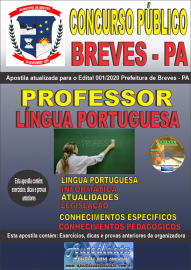 Apostila Impressa Concurso Público Prefeitura de Breves - PA 2020 Professor de Língua Portuguesa