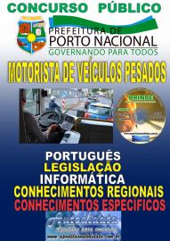 Apostila Impressa Concurso da Prefeitura de Porto Nacional - TO – 2019 - Motorista De Veículos Pesados