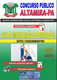 Apostila Digital Concurso Prefeitura de Altamira - PA 2020 - Auxiliar De Manutenção De Edificações