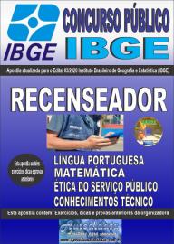 Apostila Impressa Concurso Público Instituto Brasileiro de Geografia e Estatística (IBGE) 2020 Recenseador