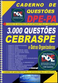 Apostila impressa Caderno de Questões concurso da Defensoria Pública do Estado do Pará DPE-PA 2021 - Defensor Público Substituto