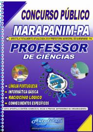 Apostila Impressa Concurso Público Prefeitura de  Marapanim 2020 Professor de Ciências