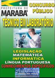 Apostila Impressa Concurso MARABÁ - PA 2018 - Técnico Em Laboratório