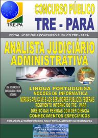 Apostila Impressa Concurso TRE-PA 2019 Analista Judiciário Área Administrativa