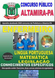 Apostila Impressa Concurso Prefeitura de Altamira - PA 2020 - Enfermeiro