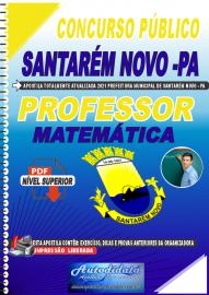 Apostila Digital Concurso Público Prefeitura de Santarém Novo - PA 2021 Professor de Matemática