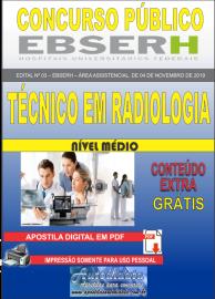 Apostila Digital Concurso EBSERH - 2019 Técnico em Radiologia
