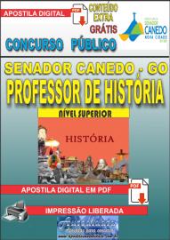 Apostila Digital SENADOR CANEDO/GO 2020 - Professor De História
