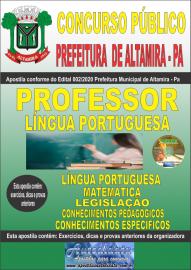 Apostila Impressa Concurso Público Prefeitura de Altamira 2020 Área Professor de Língua Portuguesa